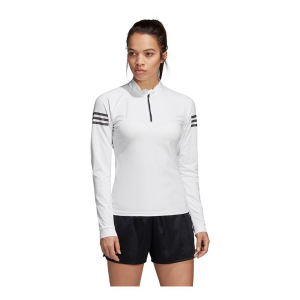 Womens Adidas Club 1/2 Zip Midlayer Long Sleeve Technical Tops(S)