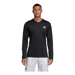 Mens Adidas Club Long Sleeve UV Protect Tee Long Sleeve Technical Tops(M)