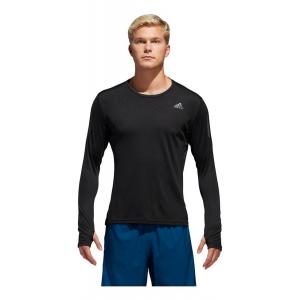 Mens Adidas Own The Run Tee Long Sleeve Technical Tops(M)