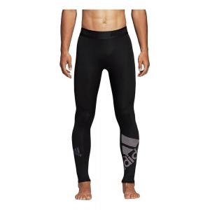 Mens Adidas Alphaskin Sport Badge of Sport Long Tights & Leggings(M)