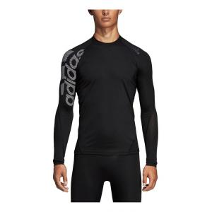 Mens Adidas Alphaskin Sport Badge of Sport Tee Long Sleeve Technical Tops(XL)