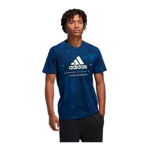 Mens Adidas Badge of Sport Wash Tee Short Sleeve Technical Tops(M)