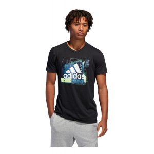 Mens Adidas Badge of Sport  Layer Tee Short Sleeve Technical Tops(S)