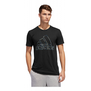 Mens Adidas Badge of Sport Coded Tee Short Sleeve Technical Tops(L)