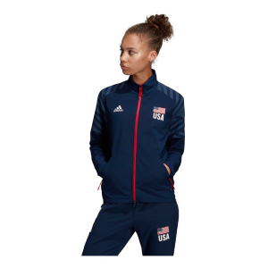 Womens Adidas USA Volleyball Warm-Up Running Jackets(L)