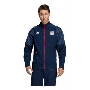 Mens Adidas USA Volleyball Warm-Up Running Jackets(XL)