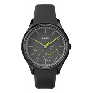 Mens Timex IQ+ Move Black/Lime Watches