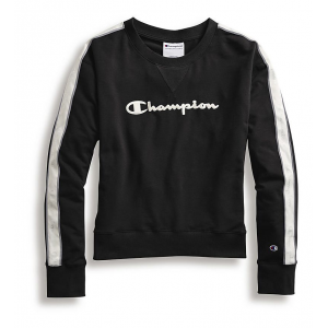 Womens Champion Heritage Crew with Taping Long Sleeve Technical Tops