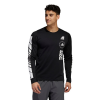 Mens Adidas Moto Tee Long Sleeve Technical Tops(L)