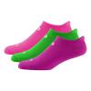 Womens R-Gear Dryroad Flash Dance Medium Cushion No Show Tab 3 pack Socks(S)