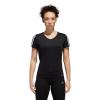 Womens Adidas Run 3 Stripe Tee Short Sleeve Technical Tops(S)