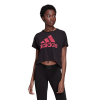 Womens Adidas Sport ID Graphic Tee Short Sleeve Technical Tops(M)