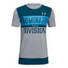 Under Armour Boys Dominate The Division Tee Short Sleeve Technical Tops(YXL)