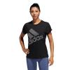 Womens Adidas Badge of Sport Logo Tee Short Sleeve Technical Tops