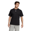 Mens Adidas Must Haves 3 Stripe Tee Short Sleeve Technical Tops