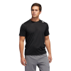 Mens Adidas Freelift Sport Fitted 3 Stripe Tee Short Sleeve Technical Tops