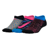 Nike Girls Graphic Lightweight Cotton No Show 3 pack Socks