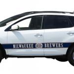 Fanatics Milwaukee Brewers Team Ball Racing Stripe Car Decals