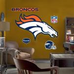 Fanatics Denver Broncos Team Logo Fathead Wall Sticker