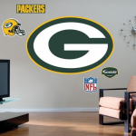 Fanatics Green Bay Packers Team Logo Fathead Wall Sticker