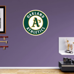 Fanatics Oakland Athletics Fathead Team Logo Wall Decal