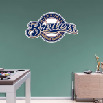 Fanatics Milwaukee Brewers Fathead Team Logo Wall Decal