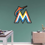 Fanatics Miami Marlins Fathead Team Logo Wall Decal