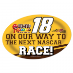 "Fanatics Kyle Busch 13"" x 19"" Jumbo Race Day Peel & Stick Decal"