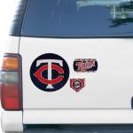 """Fanatics Minnesota Twins WinCraft 11"""" x 11"""" 3pk Prismatic Car Magnets"""