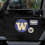 Fanatics Washington Huskies 11'' x 11'' Prismatic Car Magnet Set