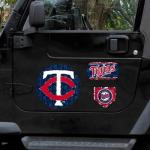 Fanatics Minnesota Twins 11'' x 11'' Prismatic Car Magnet