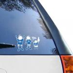 Fanatics Nebraska-Kearney Lopers 12'' x 12'' Family Car Decal Sheet