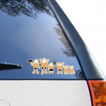 Fanatics Southern Miss Golden Eagles 12'' x 12'' Family Car Decal Sheet