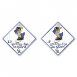 Fanatics Colorado Rockies Lil Fan Lil Fan On Board Decal 2-Pack