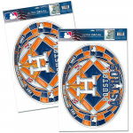 Fanatics Houston Astros WinCraft Stained Glass Decal Set