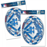 Fanatics Los Angeles Dodgers WinCraft Stained Glass Decal Set