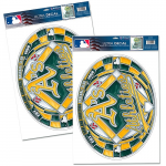 Fanatics Oakland Athletics WinCraft Stained Glass Decal Set