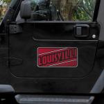 """Fanatics Louisville Cardinals 8"""" x 16"""" Car Magnet"""