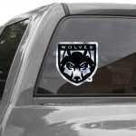 Fanatics Western Oregon Wolves 12'' Metallic Car Decal