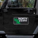 "Fanatics North Texas Mean Green 8"" x 16"" Car Magnet"