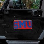 """Fanatics SMU Mustangs 8"""" x 16"""" Car Magnet"""