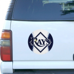 "Fanatics Tampa Bay Rays 12"" Team Logo Car Magnet"