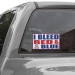 Fanatics Arizona Wildcats 6'' x 12'' I Bleed Red & Blue Car Decal