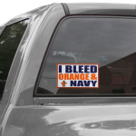 Fanatics Syracuse Orange 6'' x 12'' I Bleed Orange & Navy Car Decal