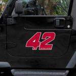 Fanatics Juan Pablo Montoya 12'' Driver Number & Name Car Magnet