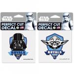"Fanatics Kansas City Royals WinCraft 4"" x 4"" Star Wars Darth Vader & Yoda 2-Pack Decal Set"