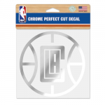 "Fanatics LA Clippers WinCraft 6"" x 6"" Chrome Decal"