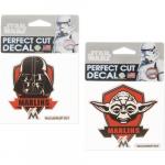 "Fanatics Miami Marlins WinCraft 4"" x 4"" Star Wars Darth Vader & Yoda 2-Pack Decal Set"