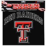 "Fanatics Texas Tech Red Raiders 12"" x 12"" Arched Logo Decal"