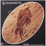 "Fanatics Buffalo Bills 12"" x 12"" Wood Design Oval Car Magnet"